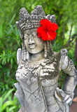 Traditional female balinese statue Stock Photo