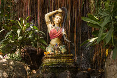 Traditional female goddess in temple Bangkok, Thailand Royalty Free Stock Photo