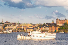 Traditional ferry in Gamla stan, Stockholm, Sweden, Europe. Royalty Free Stock Image