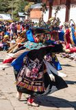 Traditional festival in Bumthang, Bhutan Royalty Free Stock Images