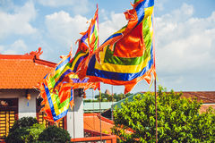 Traditional Festival flags of Vietnam Five Elements Flag Royalty Free Stock Photo