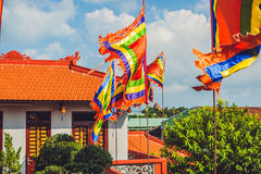 Traditional Festival flags of Vietnam Five Elements Flag Stock Photography