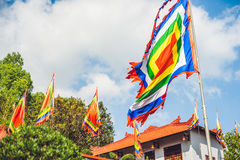 Traditional Festival flags of Vietnam Five Elements Flag Royalty Free Stock Photography