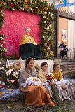 Traditional festival of Los Mayos and Las Mayas in the Lavapies neighborhood. Madrid Spain stock images