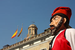 Traditional festivals Barcelona. Large heads. royalty free stock photo