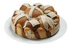 Traditional festive bread Royalty Free Stock Images