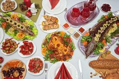 Traditional festive food Stock Images