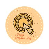 Traditional festive simnel cake to celebrate Mothering Sunday. Vector. Holiday Collection. Traditional festive simnel cake to celebrate Mothering Sunday. Vector Stock Photo