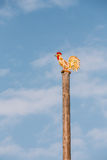Traditional Festive Wooden Pole On Which Young People Climb Masl Stock Photos