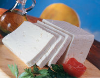 Traditional feta cheese. Stock Photo