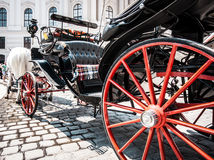 Traditional Fiaker carriage at Hofburg Palace in Vienna, Austria Stock Photos