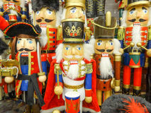 Traditional Figurine Christmas  Nutcracker Stock Image