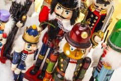 Traditional figurine christmas nutcracker Stock Photos