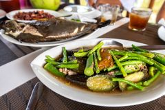 Traditional Filipino vegetable Food - Pinakbet stock photos
