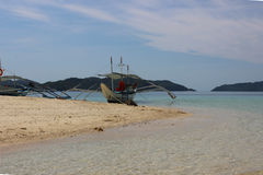 Traditional filippino boat in the sea, Philippines Stock Photography