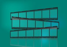Traditional film strip. 3 Traditional film strip form up a direction sign Royalty Free Stock Photography