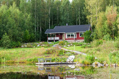 Traditional finnish cottage Royalty Free Stock Images