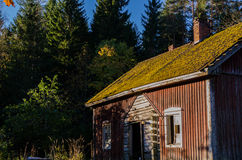 Traditional finnish cottage Stock Photos