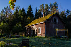 Traditional finnish cottage Royalty Free Stock Photo