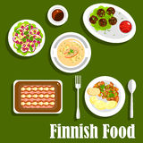Traditional finnish cuisine flat icon Royalty Free Stock Photography