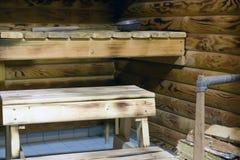 Traditional Finnish sauna stock photography