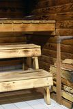 Traditional Finnish sauna royalty free stock photography