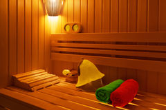 Traditional Finnish sauna Stock Photos