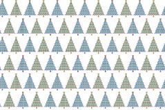Traditional fir tree seamless background - cdr format. Traditional stitches fir tree seamless background Stock Image