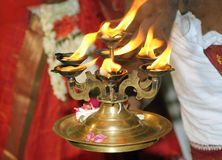 Traditional fire pot. Detail of traditional fire pot on Indian marriage Royalty Free Stock Photography