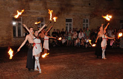 Traditional fire show Royalty Free Stock Photography