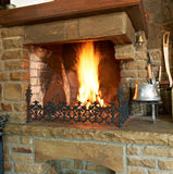 Traditional fireplace Royalty Free Stock Photos