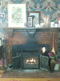 Traditional Fireplace Assemblage. Stock Photos