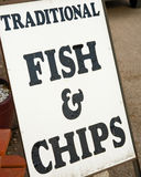Traditional fish and chips. Royalty Free Stock Images