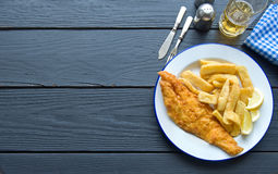 Traditional fish and chips background Stock Image