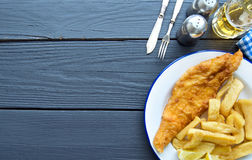 Traditional fish and chips Royalty Free Stock Images