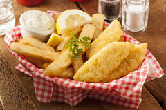 Traditional Fish and Chips Royalty Free Stock Photo