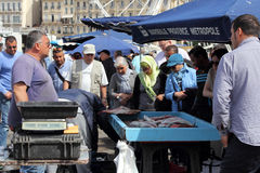 Traditional fish market in Marseille Stock Photography