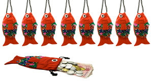 Traditional fish-shaped purse Royalty Free Stock Photos