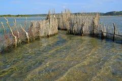 Traditional fish trap - Kosi Bay royalty free stock image