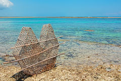 Traditional fish trap Stock Images