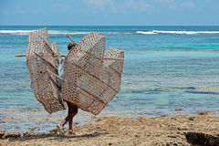 Traditional fish trap - Zanzibar Royalty Free Stock Photography