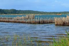 Traditional fish traps - Kosi Bay royalty free stock photography