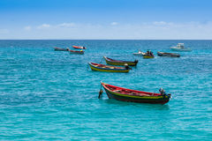 Traditional fisher boat in Santa Maria  in Sal Island in Cape Ve Stock Image