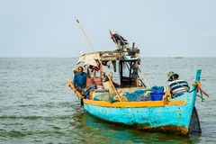 The traditional fisherman stock image