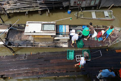 Traditional fisherman boats in Kuala Sepetang, Malaysia Stock Photo