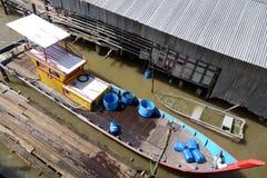 Traditional fisherman boats in Kuala Sepetang, Malaysia Stock Photos