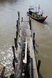 Traditional fisherman boats in Kuala Sepetang, Malaysia Royalty Free Stock Photography