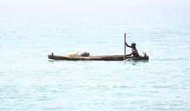 Traditional fisherman of Kerala Backwaters Royalty Free Stock Photo