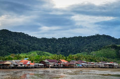 Traditional fisherman Old town village in Ko Lanta, Thailand Stock Photo