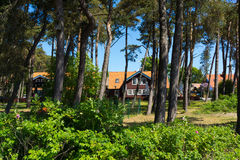 Traditional fisherman's house in Nida, Lithuania Stock Image